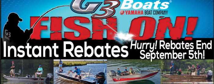 G3 BoatsSummer Rebates